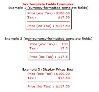Tax/VAT Amount Template Fields for VPASP - BYZ091